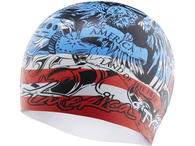TYR Home of the Brave Swimming Cap red/white/blue